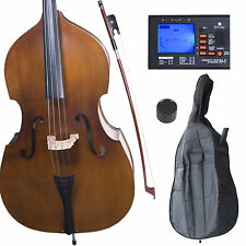 Cecilio Size 3/4 Upright Double Bass +Case+Bow CDB-200