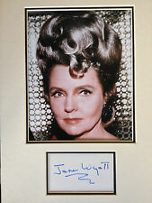 JANE WYATT - STAR TREK ACTRESS - STUNNING SIGNED COLOUR PHOTO DISPLAY
