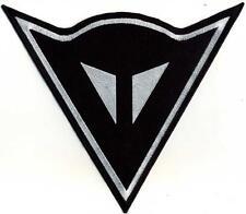Toppa ricamata patch da schiena logo DAINESE nero cm. 23 x 20