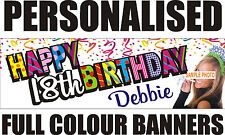 PERSONALISED PVC BIRTHDAY BANNERS 18TH 21ST 40TH 50TH 60TH WEDDING IN/OUT DOOR