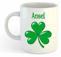 Ansel - Shamrock Personalised Name Mug - Irish St Patricks Gift