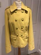 Next Womens Mustard Yellow Double Breasted Coat Jacket UK 18