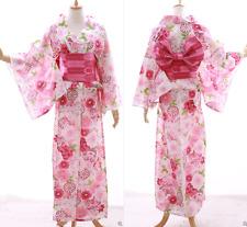 K-035 weiß rosa Sakura Kamille Blumen Original Japan Kimono YUKATA OBI Gürtel