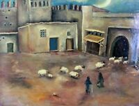 Morocco Modern Art on Canvas original Oil Painting  Signed by the artist handmad