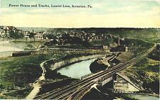 SCRANTON PA POWER HOUSE AND TRACKS LAUREL RAILROAD LINE used 1912