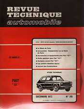 REVUE TECHNIQUE AUTOMOBILE N0319 1972 FIAT 127