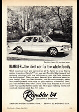 "1964 RAMBLER CLASSIC 770 SEDAN AMI AMC AD A1 CANVAS PRINT FRAMED 33.1""x23.4"""