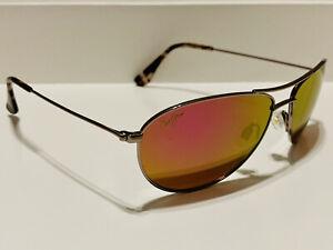 Brand New!! Polarized Maui Jim Baby Beach Sunglasses Rose Gold/Sunrise P245-16R