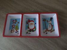 Festa Di Natale Natale stoviglie 3 sezione Vassoio Bambini Divertente NATALIZIO