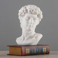 Greek Mythology David Head Bust Statue Mini Europe Michelangelo Home Decoration