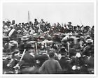President Abraham Lincoln At Gettysburg With Bodyguard 8x10 Silver Halide Photo