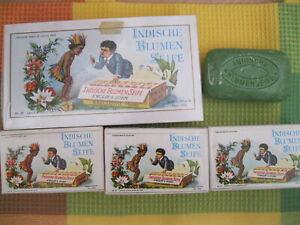 Neues Angebot7 Stück Indische Blumenseife: 1x3er Geschenkpackung OVP + 4 Seifenstücke 100g