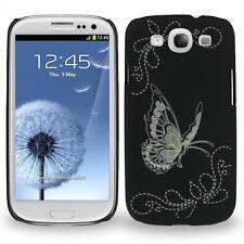 Hülle f Samsung GALAXY S3 i9300 Schutz Case Tasche Cover Blumen Schmetterling
