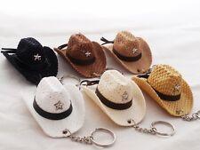 NEW SET 6X VINTAGE COWBOY HAT KEY RING KEY CHAIN MINI VELVET GIFT SOUVENIR #4