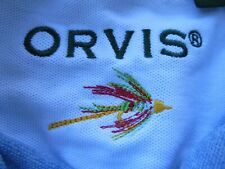New listing Orvis Mens Rugby Polo Shirt Blue Heavy Cotton Fly Fishing sz L Large FALL
