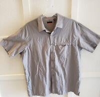 Vintage VAN HEUSEN TanBeige Men/'s XL Corduroy Buttondown Shirt-Front Pockets-1990/'s 2000/'s