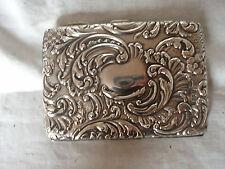 AIDE MEMOIRE / CARD CASE STERLING SILVER BIRMINGHAM 1903
