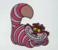 CHESHIRE CAT ALICE IN WONDERLAND Embroidered Iron On Cloth Patch Badge APPLIQUE