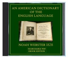 American Dictionary of the English Language Webster's 1828 - Searchable CD eBook