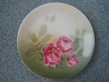R & S  Germany Hand Painted Roses Plate