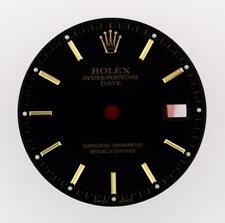 Vintage Men's Rolex Date QS 34mm 15038 15238 15053 Black Stick Dial 2Tone #Y27