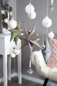 Papiersterne Adventsstern Dekostern Weihnachtsstern Weihnachtsdeko Stern Set