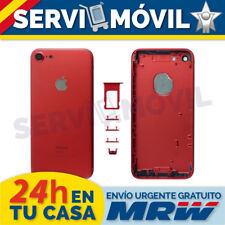 "Carcasa Marco Chasis Para Apple Iphone 7 4.7"" Red Edition Rojo Tapa Bateria"