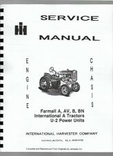 International Farmall A AV B BN Tractor Service Repair Manual 1939-1947
