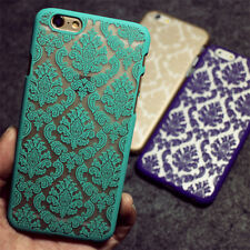 New Hard PC Back Damask Case Cover For Apple iPhone6/6s/6Plus 7/7Plus/Samsung
