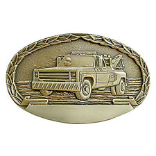 Wrecker Truck Engravable Belt Buckle OBM151 IMC-Retail