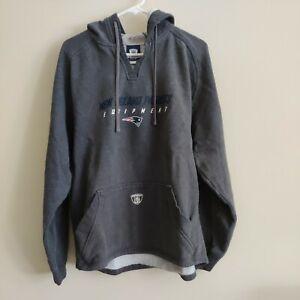 Reebok NFL Equipment New England Patriots Hoodie Sweatshirt Sz M gray