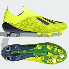adidas X 18+ SG Mens Football Boots Laceless Yellow Purespeed SIZE 7 7.5 8 9 9.5