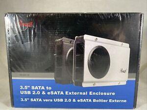 "Rosewill RX-358 V2 - Black, 3.5"" SATA to USB & eSATA HDD Enclosure"