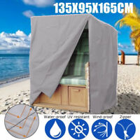 Beach Chair Seat Cover Furniture Patio Garden Outdoor Protector 135X95X165cm -