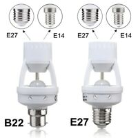 B22/E27 toE14/E27 PIR Motion Sensor LED Light Bulb Holder Socket Switch Infrared