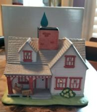 Partylite Villages The Farmhouse Ceramic Porcelain Tealight Candle Holder Po532