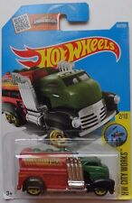 2016 Hot Wheels HW CITY WORKS 2/10 Fast Gassin' 167/250 (Green Cab)(Int. Card)