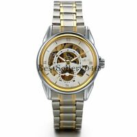 Mens Transparent Steampunk Skeleton Automatic Mechanical Watch Father's Day Gift