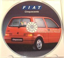 CD MANUALE OFFICINA FIAT 500 CINQUECENTO - 704cc-903cc - 2673 pagine stampabili