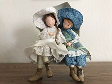 Holly Hobbie Dolls On Bench With Unbrella