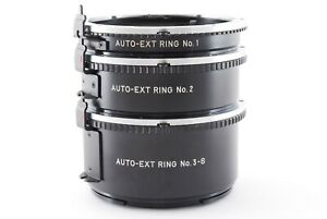 """N MINT"" Mamiya M645 Auto EXT Extension Ring Tube No. 1 2 3-S Set Japan 0604"