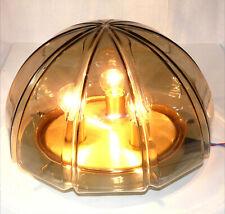Peill & Putzler Plafoniere Lampe Flush Mount Messing Rauchglas Limburg Stil