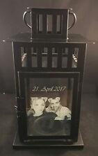 Laterne schwarz Persönlich Foto Gravur Hochzeit Geburtstag Geschenk Geburt  Baby