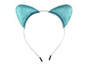 Cat Ears Headband - Blue Glitter
