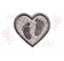 Herz mit füßchen Knieflicken Aufbügler Aufnäher Bügelbild sticker patch emblem