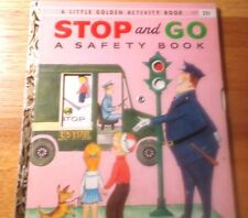 Old Little Golden Activity Book Stop & Go A Safety Book First Edition (A) 1957