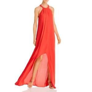 BCBGMAXAZRIA Womens Hi-Low Halter Formal Dress Gown BHFO 6612