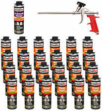 Pistolenschaum 24 x 500ml + 1 Metall Schaumpistole +1 Reiniger Montageschaum