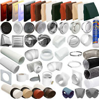 """MEGA LIST 4"""" 100mm ROUND TUBE EXTRACTOR VENTILATION DUCTING- PIPE VENT FITTINGS"""