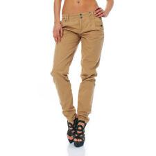 Pantaloni da donna beigi cotone s